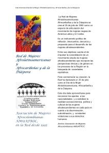 Dia de la Mujer Afrolatinoamericana, Afrocaribeña y de la Diáspora